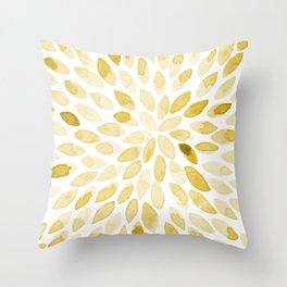 Watercolor Brush Strokes   Yellow Throw Pillow