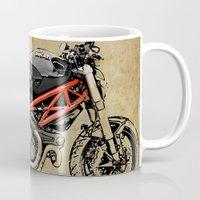 ducati Mugs featuring Ducati Monster 796 by Larsson Stevensem