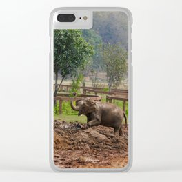 Happy Elephant Clear iPhone Case