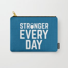 Stronger Every Day Gym Quote Carry-All Pouch