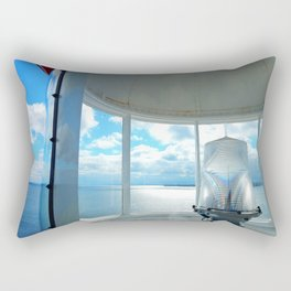 Souris Lighthouse View from the Top Rectangular Pillow