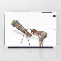 valentina iPad Cases featuring valentina e l'improbabile telescopio by Mesailes by Germana Picchioni