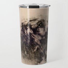 English Cocker Spaniel Sketch Travel Mug