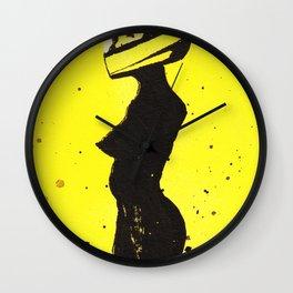 Yellow Helmet Wall Clock