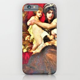 Hans Makart - Abundantia, The Gifts of Earth - Digital Remastered Edition iPhone Case