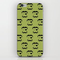 Olde Timey Mustache and Eyepatch Man iPhone & iPod Skin