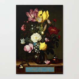 "Ambrosius Bosschaert the Elder ""Bouquet of Flowers in a Glass Vase"" Canvas Print"