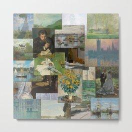 Artist Claude Monet Million Dollar Painting Collage Quilt Metal Print