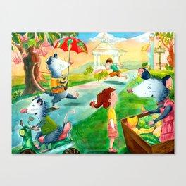 Posssum Promenade  Canvas Print