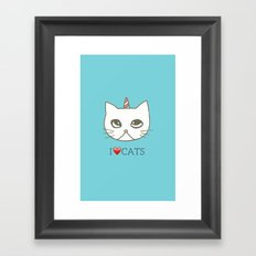 cat-397 Framed Art Print