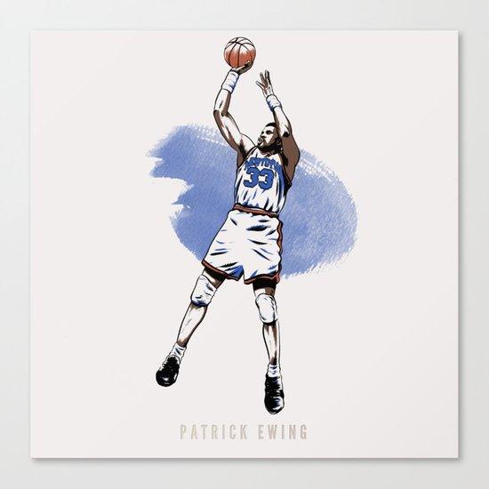Patrick Ewing Canvas Print