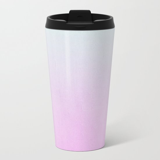Ombre fade pastel trendy color way throwback retro palette 80s 90s style Metal Travel Mug