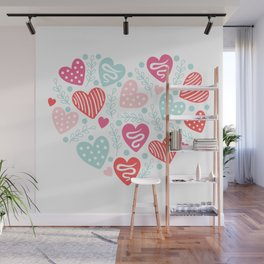 Valentines Day Heart #11 - Branches Hearts Wall Mural