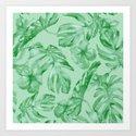 Green Jungle Island Tropical Palm Garden by followmeinstead