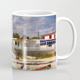 Beach leaning lighthouse, Puerto Morelos, Mexico, Coffee Mug