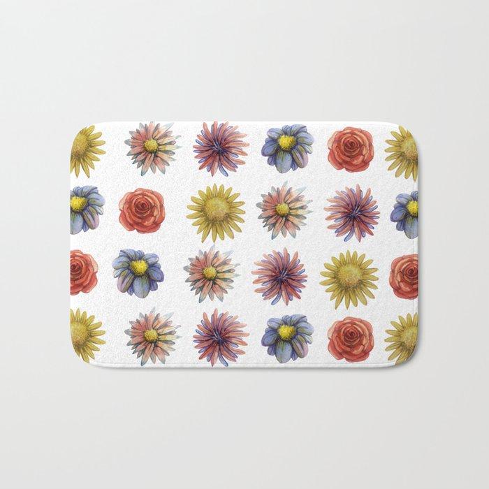 flowers! Bath Mat