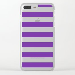 Purple Stripes Clear iPhone Case