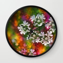 Floral Splash Wall Clock