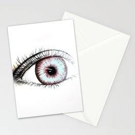 Looking In #2 - Original sketch to digital art Stationery Cards