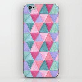 pastel triangle pattern iPhone Skin