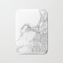 Cape Town Map White Bath Mat
