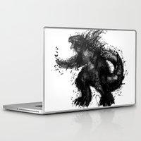 godzilla Laptop & iPad Skins featuring GODZILLA  by jun salazar