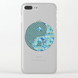Yin Yang Ocean Spirit Clear iPhone Case