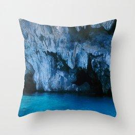 NATURE'S WONDER #3 - BLUE GROTTO #art #society6 Throw Pillow