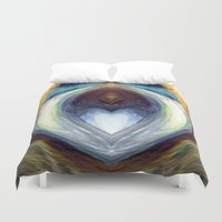 mirror Duvet Covers featuring Mirror  by DreamBeyondArt