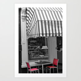 Chic Cafe Art Print