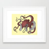 octopus Framed Art Prints featuring Octopus by Amanda James