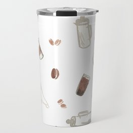 Coffee Sketches Collage 2 Travel Mug
