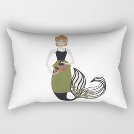 Tea Mermaid by Ashley Nada Rectangular Pillow