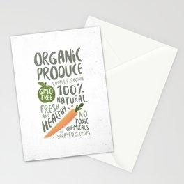 Organic Produce Stationery Cards