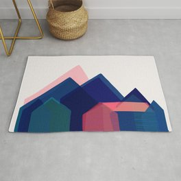 Houses abstract Rug
