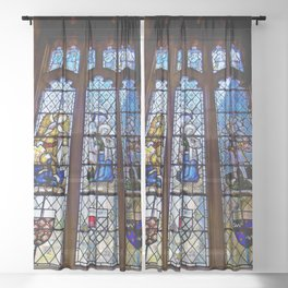 Stained Glass Sheer Curtain
