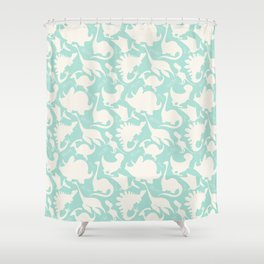 Full Color Dinosaurs Shower Curtain