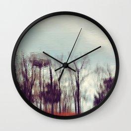 Fall Reflection Wall Clock