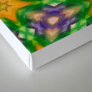 Mardi Gras stars #4509 Canvas Print