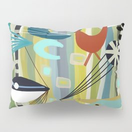 Mid Century Modern Fish Art Pillow Sham