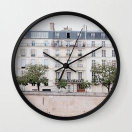 Seine River - Paris France, Architecture, Travel Photography Wall Clock