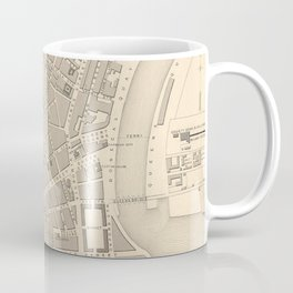 Vintage Map of Belfast Ireland (1851) Coffee Mug