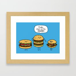 Burger Bullies Framed Art Print