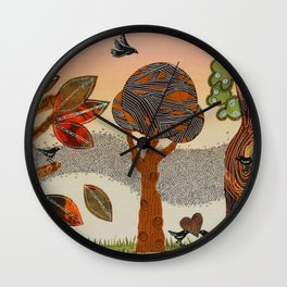 Birds Refuge Wall Clock
