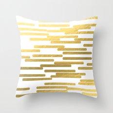 Gold Bars - trendy hipster gold foil shiny sparkle gilded gold bars money art print phone case  Throw Pillow