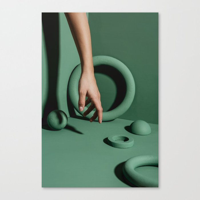 Green abstract background Canvas Print
