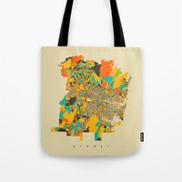 sydney Tote Bags featuring Sydney by Nicksman