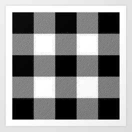 Big Black and White Buffalo Plaid Art Print