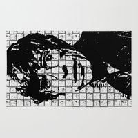 stephen king Area & Throw Rugs featuring Stephen Hawking by Silvio Ledbetter