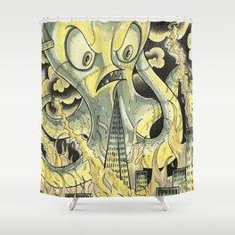 Steamechanical Octopus Shower Curtain
